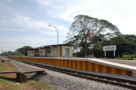 The temporary station
