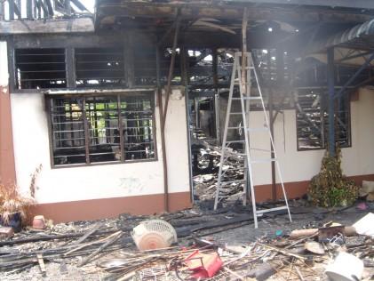 Jalan Petani Burnt house porch