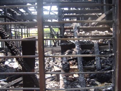 Jalan Petani Burnt house inside