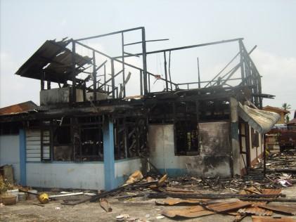 Jalan Petani Burnt house back view