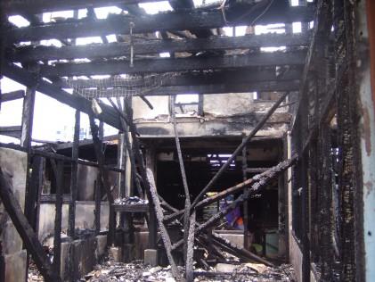 Jalan Petani Burnt house inside 2