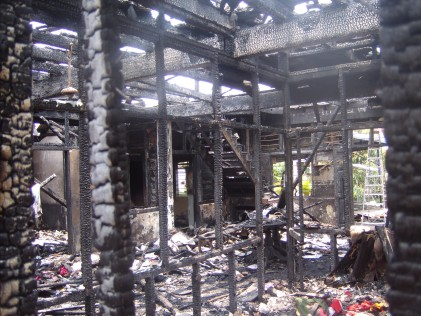 Jalan Petani Burnt house inside 3