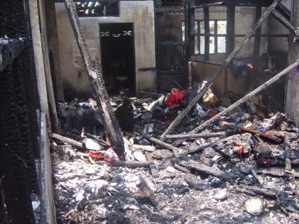 Jalan Petani Burnt house inside 4