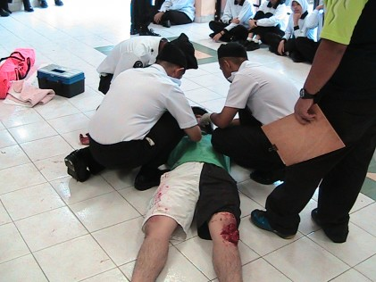 First aid competion under way