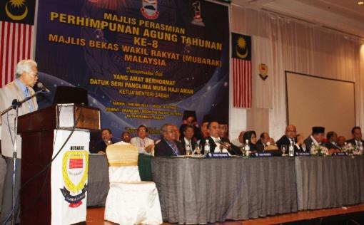 Gambar Fail - Sidang Agung Mubarak di Sabah