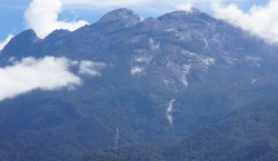 Mount Kinabalu, one of Southeast Asia's highest peak as seen from Sabah Park, a World Heritage site