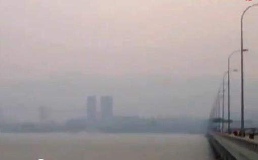 Haze Jerebu Penang Penang Bridge