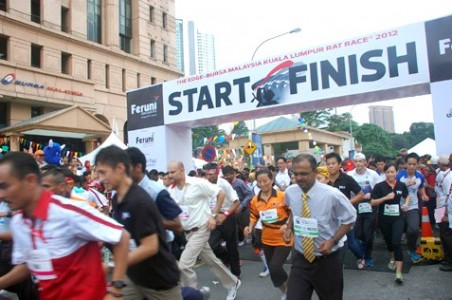 The Edge-Bursa Malaysia Kuala Lumpur Rat Race 2012 raises over RM2.2 million for charity in its 13th year.