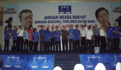 Barisan state leaders on stage