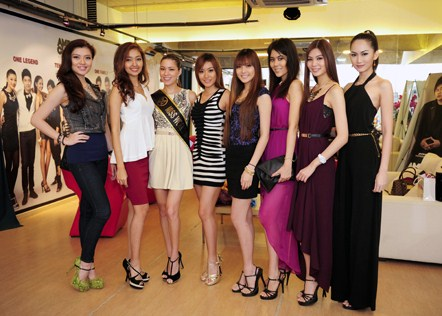 Beauty queens at ACA 1313 media session