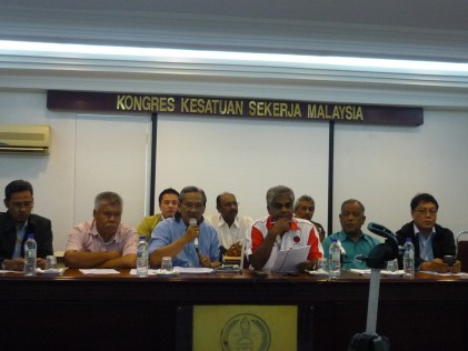 Press conference at MTUC HQ in USJ Subang Jaya,