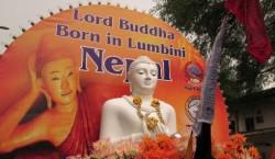 Nepali Migrant Wesak Day Buddha Lumbini Nepal 1