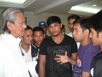 Nepali Migrant Workers with Khalid Atan Malaysian Trade Union Congress Malaysia Small Image