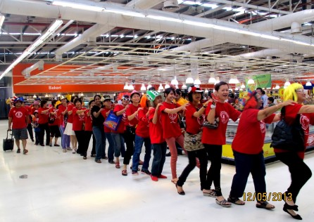The laughter march at Aeon Big, Pandan