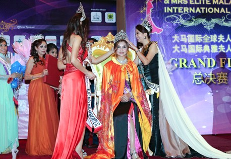 Tian Lee Na is crowned Mrs Elite Malaysia International 2013