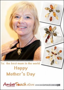 Beautiful amber jewellery for sale on Mother's Day