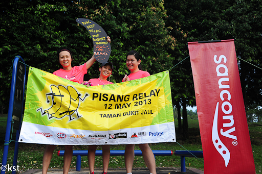 A must have photo shot with the Pisang Relay banner