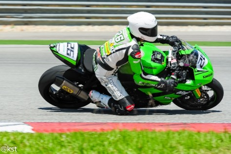 Fuad (No 26) on the track in Sepang International Circuit