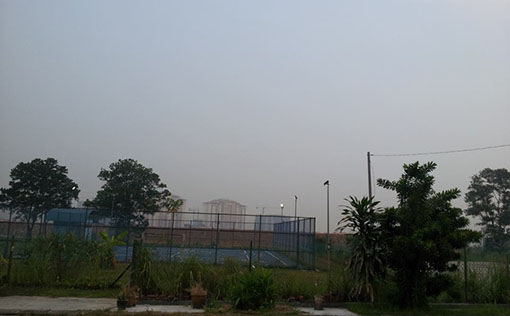Air condition seems improved after rain in Taman Mount Austin (6:00pm). Photo by Goh Siew Mei.