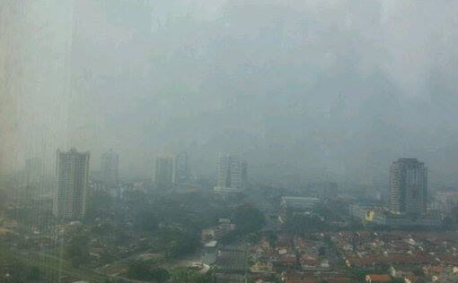 View from Landmark office in Johor Bahru. (6:00pm). Photo by Petrina.