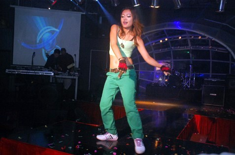 Namiko Nana performing a hip hop dance