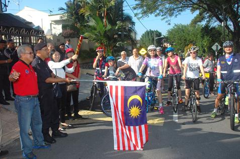 PJ OCPD Arjunaidi lauches RT SS2B bicycle patrol