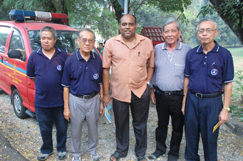 (L-R) Cassian, Francis Roger, Jeyaseelen, Kassim and Kong