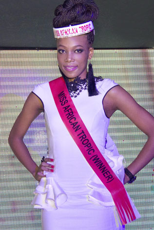 Miss Africa Tropic 2013 winner Same Mercy Kooneeng from Botswana