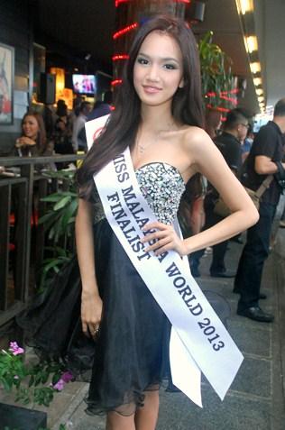 Miss World Malaysia 2013 finalist Kim Low
