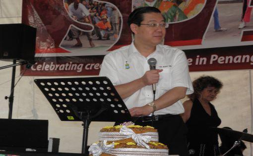 Penang CM, Lim Guan Eng, giving a speech