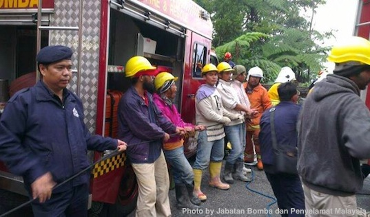 Genting Highlands Accident Bomba Penyelamat Photos 7