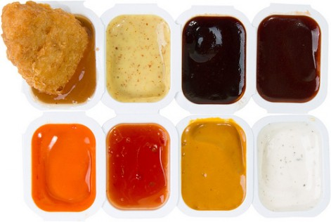 Different type of sauces from Mc Donald's that may contain 'LM 10'