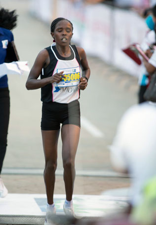 KL Marathon 2013 Women champion Rose Chekurui Kosgei from Kenya