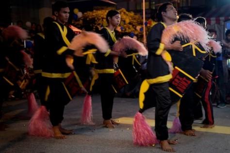 Kuda Kepang and Indian Drummers Malaysia Day Leornado's Jalan Bangkung 1