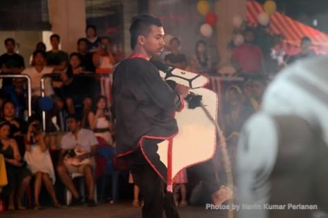 Kuda Kepang and Indian Drummers Malaysia Day Leornado's Jalan Bangkung 12