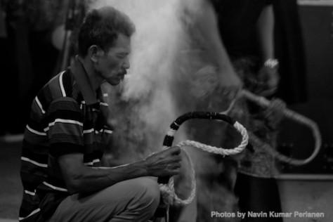 Kuda Kepang and Indian Drummers Malaysia Day Leornado's Jalan Bangkung 14