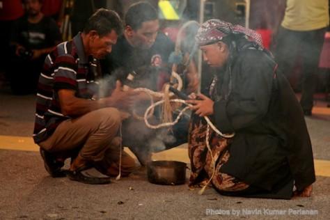 Kuda Kepang and Indian Drummers Malaysia Day Leornado's Jalan Bangkung 16
