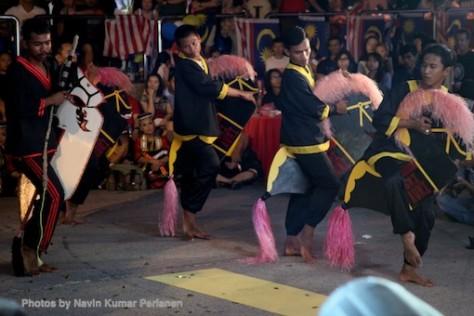 Kuda Kepang and Indian Drummers Malaysia Day Leornado's Jalan Bangkung 17