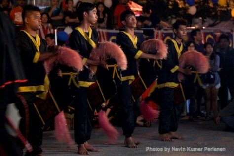 Kuda Kepang and Indian Drummers Malaysia Day Leornado's Jalan Bangkung 2