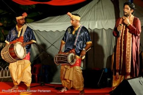 Kuda Kepang and Indian Drummers Malaysia Day Leornado's Jalan Bangkung 7