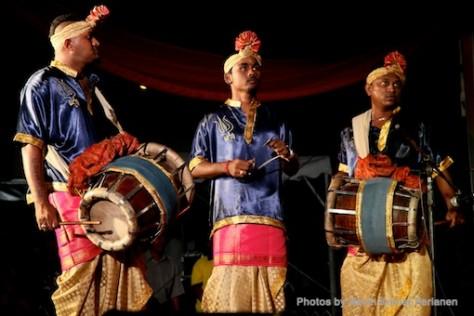 Kuda Kepang and Indian Drummers Malaysia Day Leornado's Jalan Bangkung 9