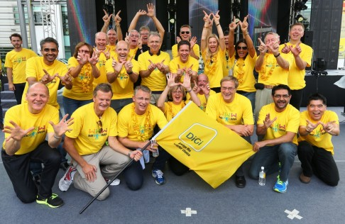 Second row from left AlbernMurty, DiGi's Chief Marketing Officer, and second row, 3rd from left Henrik Clausen, Chief Executive Officer of DiGi and Telenor's Board of Directors