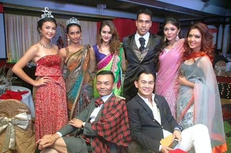 (Back row L-R) Jade Park, Menaga Dolmayan, Jasveer Sandhu, Raj Aria, Sharmisttha Yoogan and Nithya RV