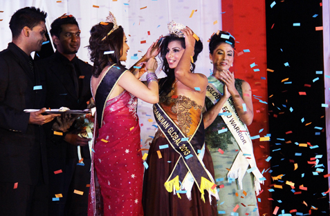 Sangheetaa Phary, 25, was crowned on Oct 11 as Miss MalaysiaIndian Global 2013 by last year's pageant winner, Harnesh