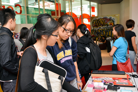 Students at IACT College PJ charity garage sale