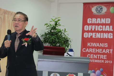 Mr Koh Guan Hoe spoke at the official opening