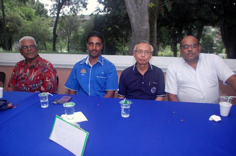 (L-R) Rejendran, Shaik Zaiful Nizam Shaik Mansoor, Kong Poh Heon and Jeyaseelen