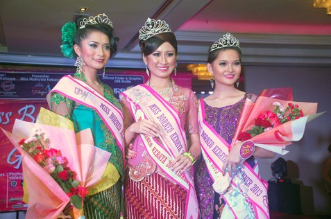 Miss Borneo Kebaya 2013 winners