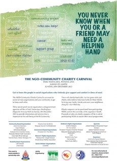 The first-ever NGO Community Charity Carnival poster