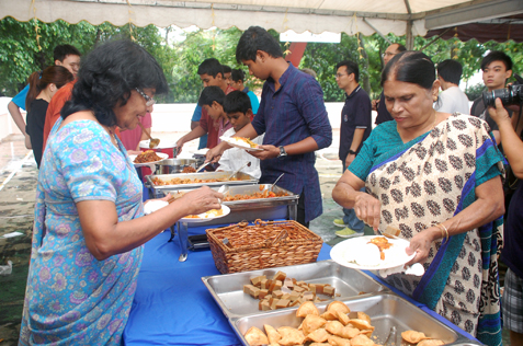 Residents enjoy the food in different varieties